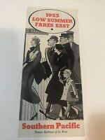 SOUTHERN PACIFIC RAILROAD 1933 LOW SUMMER FARES AD