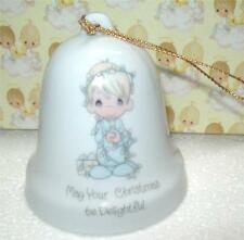 Vintage1985 Enesco Precious Moments Hanging Bell May Your Christmas Be Delight