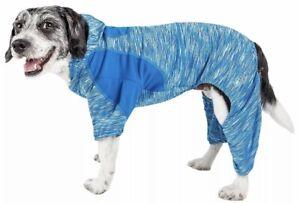 Pet Life Active 'Downward Dog' Heathered Performance Hoodie Jacket Coat Sz Small