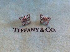 Tiffany & Co Sterling Silver Nature Butterfly Earrings Butterflies Pierced