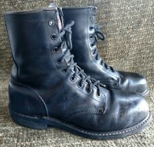Iron Age 677 black leather steel toe oil resistant work combat boots size 9.5