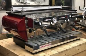 La Marzocco FB70 3-Group Commercial Espresso Machine - Barely Used - Red