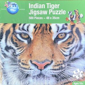 Indian Tiger Jigsaw Puzzle 500 Pieces 48 x 35cm Brand New & Sealed