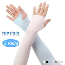 Arm Covers Cooling Uv Protection Sport Outdoor Stretch Sleeves Sun Block Golf