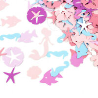 100Pcs/Lot  Chic Mermaid Seahorse Starfish Paper Decor Wedding Table Confetti