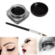 Waterproof Eye Liner Eyeliner Shadow Gel Makeup Cosmetic+Brush Black New Style