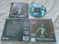 Tomb Raider 1 original PS1 (COMPLETE) Sony PlayStation Lara Croft black label