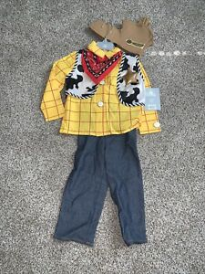 NWT Disney Store Boys Toy Story SHERIFF WOODY 5 Pc Set Baby Costume 3 3T
