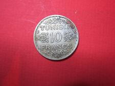 Tunisie, 10 Francs (1934 - 1353 ) argent
