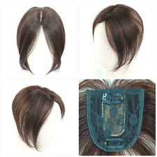 Women Hair Piece 100% Human Hair Clip In Top Toupee Wigs Breatheable Invisible