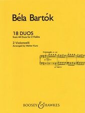 18 Duos Cello Duet Chamber Music NEW 048003046