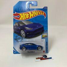 Tesla Model 3 #112 * New Blue * 2020 Hot Wheels Case M * NB25