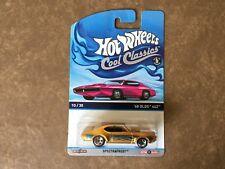 hot wheels cool CLASSIC 2014 ' 68 Olds 442 con NUEVO COCHE FUNDA