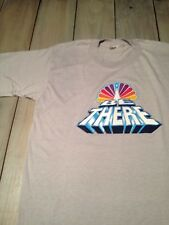 """Vintage 1983 NBC """"BE THERE"""" T-Shirt RARE Early Style Gray Large L M"""