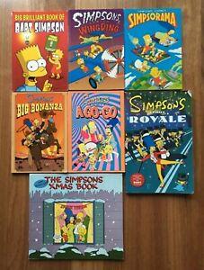 7 x The Simpsons Comics Book Bundle Paperback Matt Groening First Edition