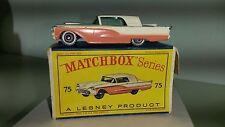MATCHBOX 1-75 voiture miniature RW No. 75 A FORD THUNDERBIRD 1959-64 avec neuf dans sa boîte d SPW RARO