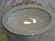 """ROYAL WORCESTER SILVER CHANTILLY 10 5/8"""" OVAL BOWL"""