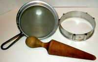 Vintage WEAR-EVER Aluminum #8 Tomato Strainer / Jelly Maker with Wood Pestle