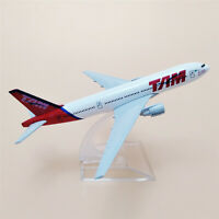 Airplane Model Plane Brazil Air TAM Airlines Boeing B777 Aircraft Alloy 16cm