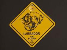 Labrador On Board Dog Breed Yellow Car Swing Sign Gift