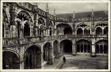 Lissabon Lisboa Portugal AK ~1920/30 Klosterhof Belem Kloster Kirche ungelaufen
