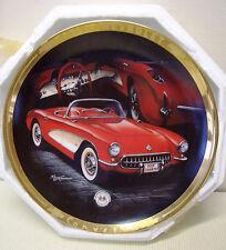 1957 CORVETTE Hamilton Collector Plate by Marc Lacourciere #3717w/ Certificate