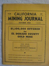 October 1958 California Mining Journal Booklet