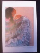 """Anna Hawthorne Signed Mailing Card PRINT  Native Woman Waiting For EvenIng 6x9"""""""