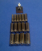 "Blue Point soldby Snap On 3/8"" dr Deep 12pt 10mm 24mm socket set 15 sockets NEW"