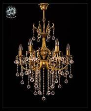 Art Nouveau Chandelier Real Lead Crystal Balls Available IN Gold Or Silver