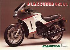 1986 Cagiva Alazzurra 650SS original large brochure