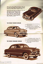 1949 FORD Brochure / Catalog: FORDOR,SEDAN,COUPE,STATION WAGON,
