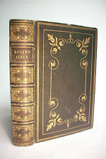 1836 ITALY*Beautiful Ornate Full Leather Binding *Poetry*Poems* Samuel Rogers