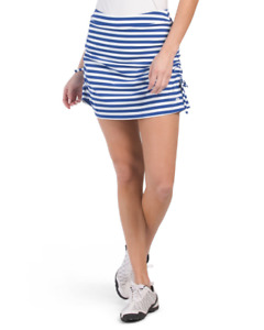 G/Fore Ruched Striped Skort Lapis/Snow NWT $145 Blue White Womens Golf Tennis