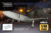 Wolfpack Design 1/48 Supermarine Attacker Folded Wing Set for Trumpeter kit