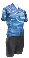 Monton Short Sleeve Cycling Kit + Socks Men XS Blue Black Road Bike Gravel MTB