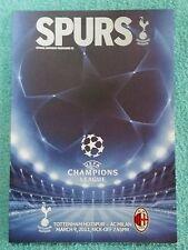 2011-Tottenham V AC MILAN PROGRAMMA-CHAMPIONS LEAGUE