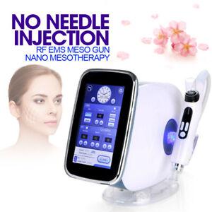 2 In 1 Nadellos RF+EMS Meso Gun Nano Mesotherapie Facelifting Beauty Maschine