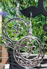 Clover celtic earrings shamrock dangle