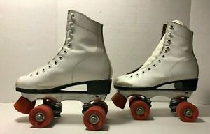 Vintage Dominion Canada Roller Skates Women's Size 6 Leather Red Wheels
