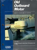 1969 & PRIOR CLYMER OLD OUTBOARD SERVICE MANUAL 30 HP & LESS VOLUME 1  OOS-1