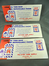 FUL-O-PEP FARM SUPPLY Advertising Ink Blotter Aylesford Nova Scotia Quaker Feed