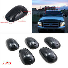 5Pcs Car Pickup Amber LED Cab Roof Marker Running Light Clear Black Smoked Lens