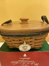 Longaberger 2005 Tree Trimming Tinset Basket Set New In Box Usa Trim Green