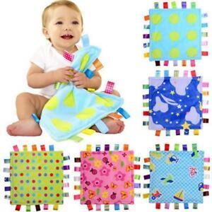 Baby Bundle Fleece Plush Comforter Taggy Taggie Tag Blanket AS