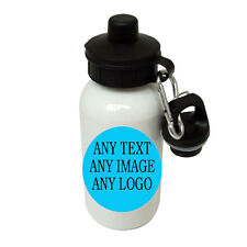 Personalised Water Bottle,White 500mm Any text,image,for school/nurserys