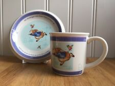Peter Rabbit Wedgwood Children's Mug/Cup & Plate Set Nursery Ware 2001