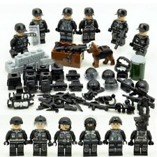 6pcs SWAT Army Navy Seals Special Forces Team Soldier Building Blocks Fit Lego
