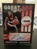 2020-21 NBA Hoops Rod Strickland Great Significance Auto Blazers Rc NM panini
