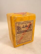 Ancien jouet épicerie boîte TAPIOCA PETIT NAVIRE manioc marchande 1930 RARE